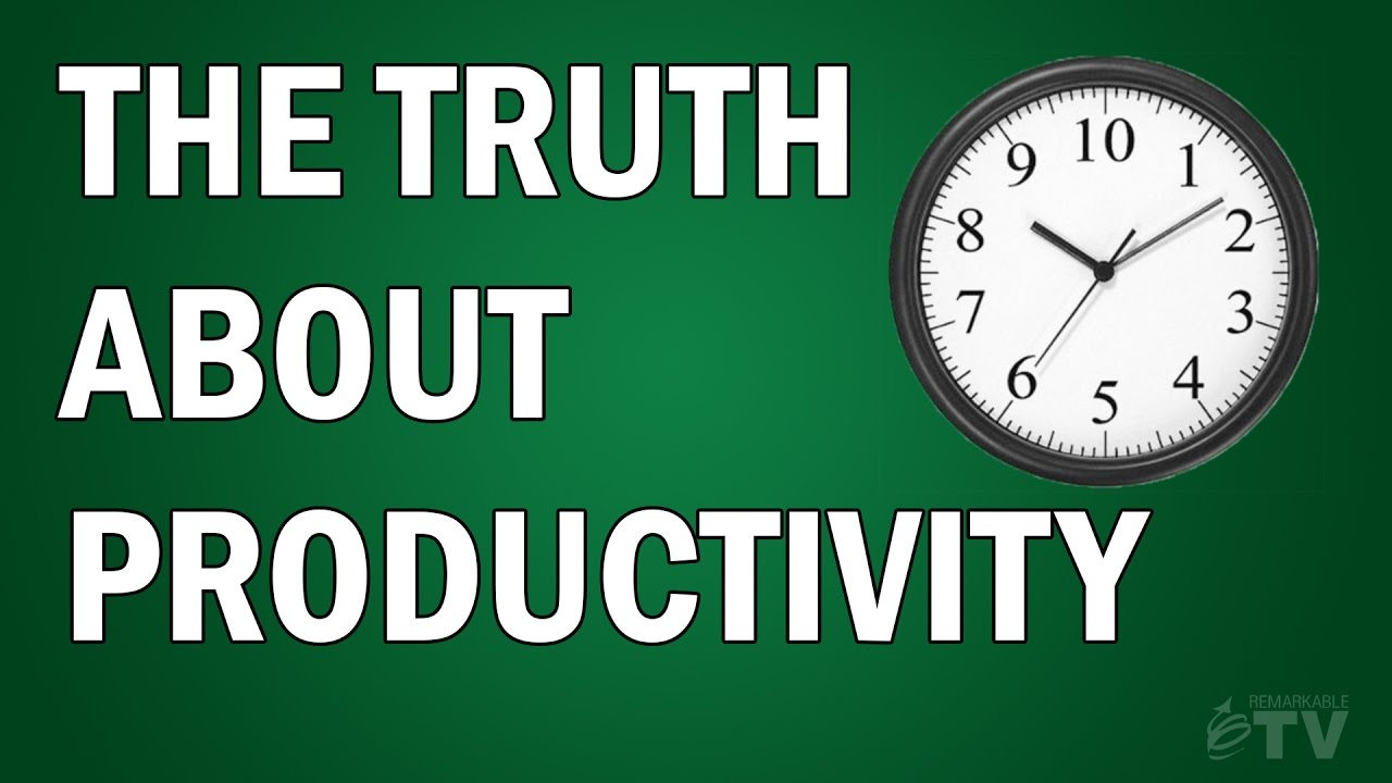 About Productivity the truth about productivity