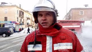 Пожар в центре Канска