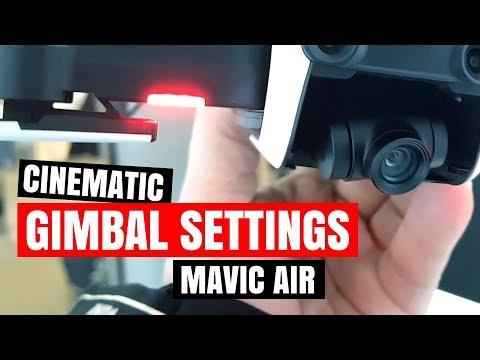 The BEST Gimbal Settings Mavic Air ❤️