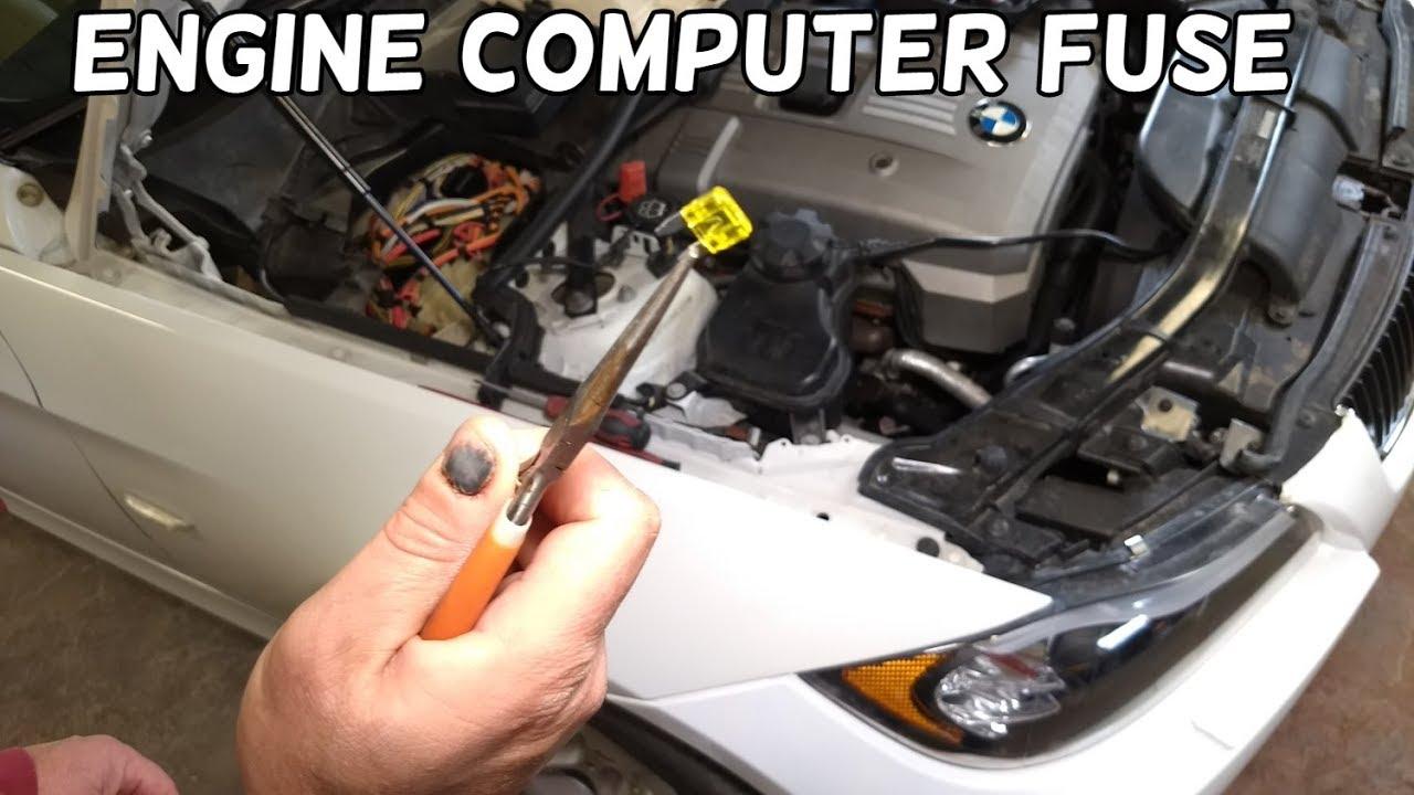 ECM DME ECU ENGINE COMPUTER FUSE LOCATION REPLACEMENT BMW E90 E91 E92 E93