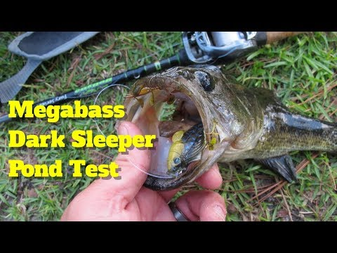 Megabass Dark Sleeper Bottom Swimbait Pond Test (2 4 Inches, 3/8th Oz)