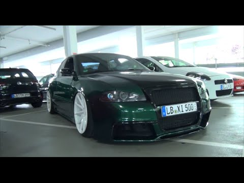 audi a4 b5 limo ultra low 20 concave wheels green. Black Bedroom Furniture Sets. Home Design Ideas