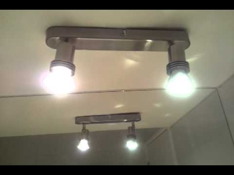 iluminacin LED 9W versus dicroico 50 W  YouTube