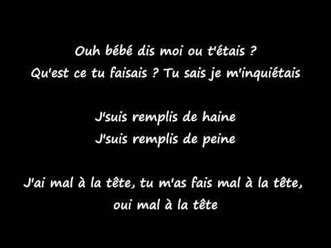 Aya - J'ai mal (Lyrics)