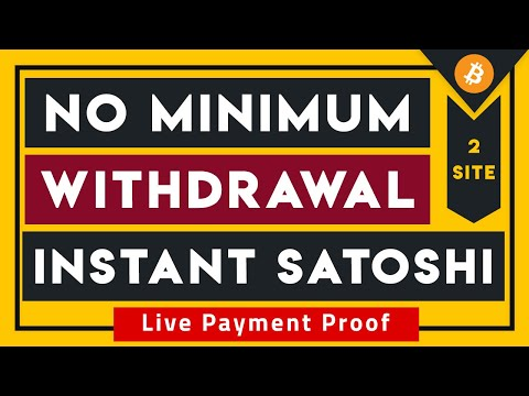No Minimum Withdrawal Instant Free Bitcoin With Live Payout