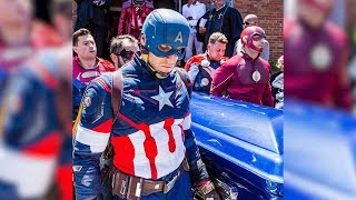 FDNY and NYPD Dress As Superheros For 8-Year-Old Boy