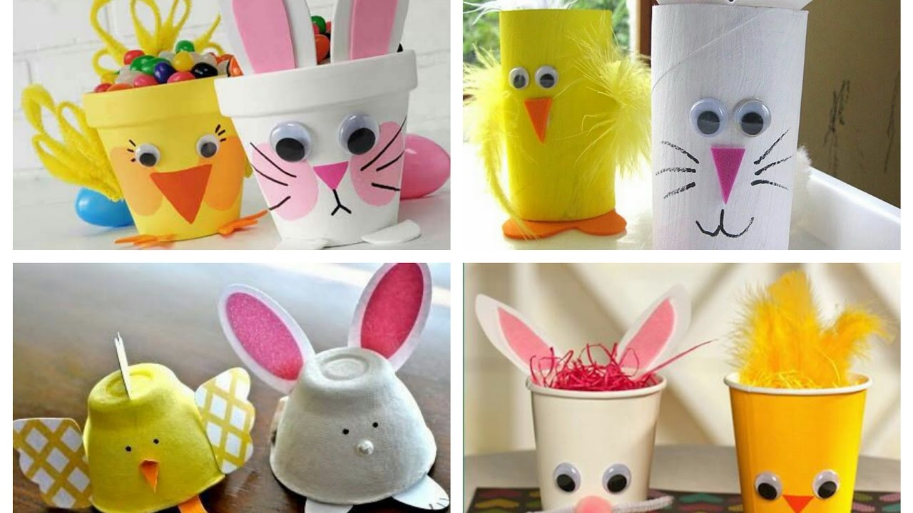Easy easter bunny crafts - Easter Kids Crafts Ideas Easter Bunny Crafts For Kids Easter Chick Crafts For Kids