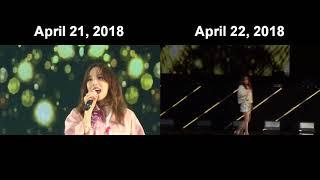 SNSD Taeyeon Apr 21, 2018 vs Apr 22, 2018 (Curtain Call) - Stafaband