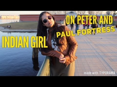 Indian Girl On Peter And Paul Fortress   Indians In Russia   Петропавловская крепость