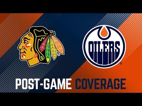 Post-Game Interviews   Oilers @ Blackhawks