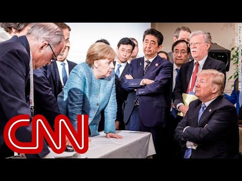 Merkel speaks out about viral Trump photo