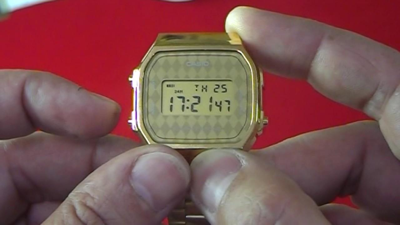 442e7862d78e Poner en hora un reloj Casio dorado - YouTube