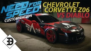 CHEVROLET CORVETTE Z06 VS LAMBORGHINI DIABLO | Customization | Need For Speed | 2015