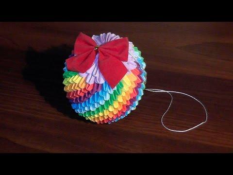 Модульное оригами Елочная