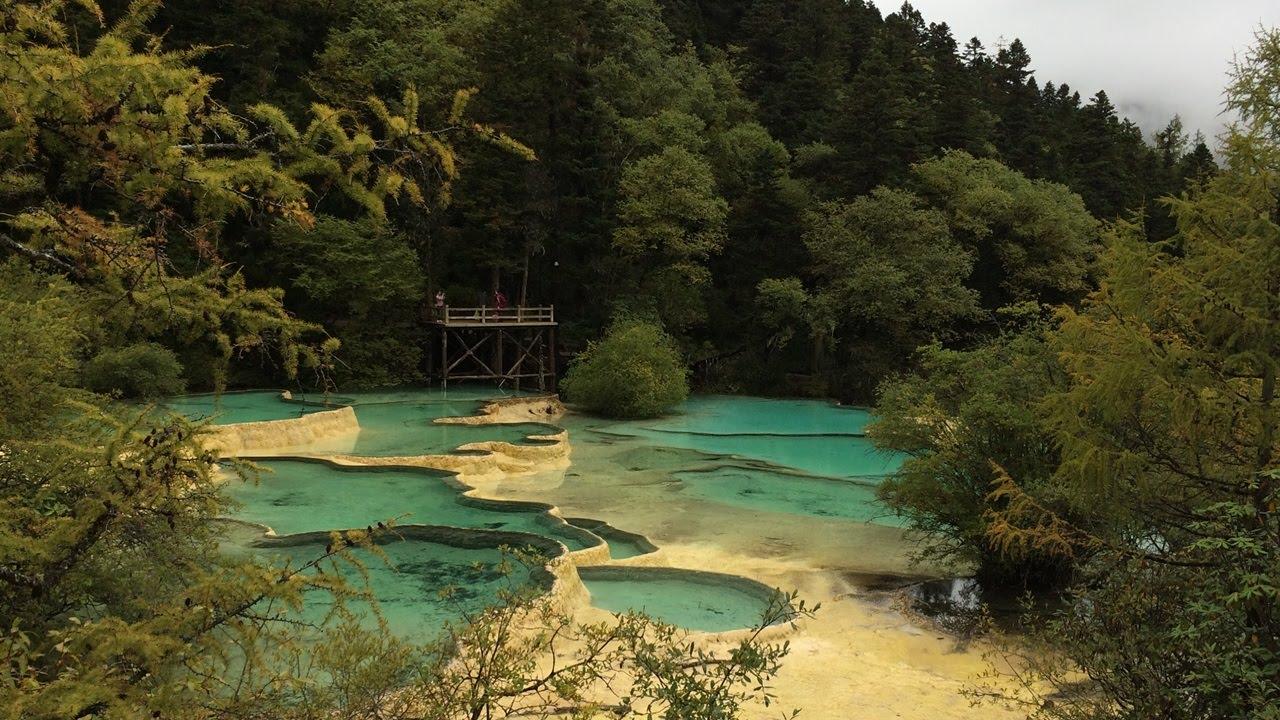 世界遺産#2 中国・黄龍の娑夢映彩池