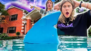 Exploring a SECRET HAUNTED POOL HOUSE! Is it the Pool Monster?