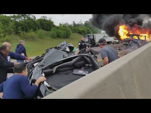 Wrong Way Driver Causes Fatal Crash on Dallas Highway - Full Video HD
