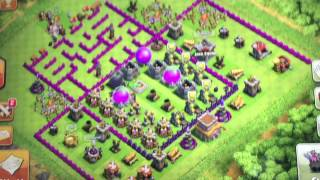 Clash of Clans - Base Designs (1) - The Maze Base!!