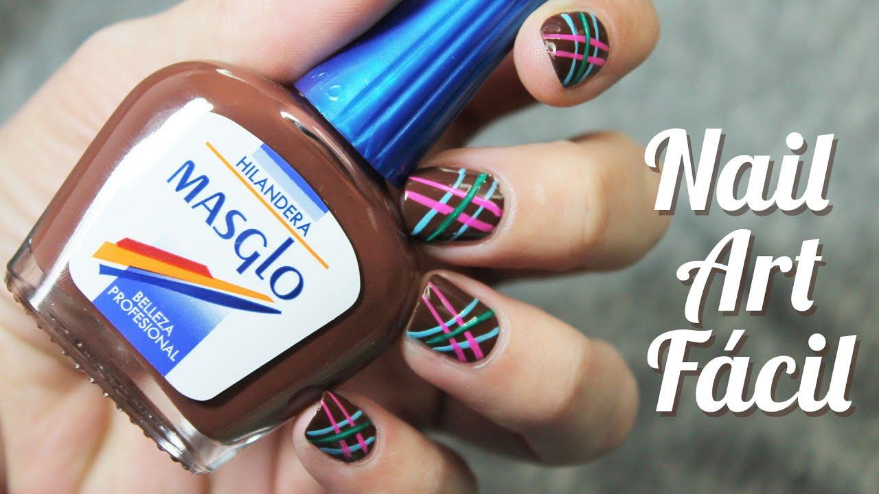 Decoración de uñas sencilla y rápida con Masglo colección rural , YouTube