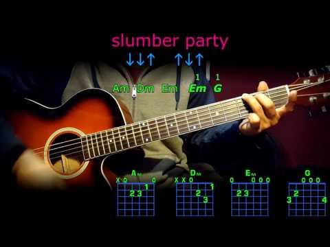 slumber party brittney spears guitar chords