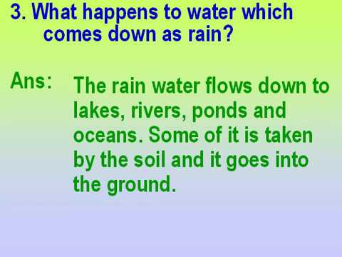 Class 3 Science Water And Water Cycle For Kids Questions And Answers