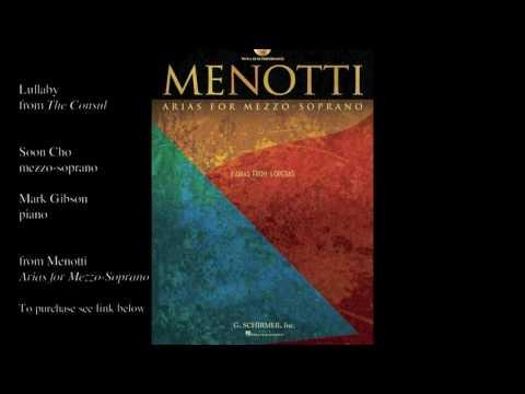 """Menotti """"Lullaby"""" (THE CONSUL)"""