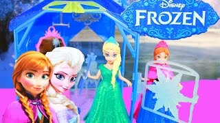 NEW Elsa Flip N Switch Castle Disney Princess Ice Palace Magiclip Anna Toy Review Unboxing Video