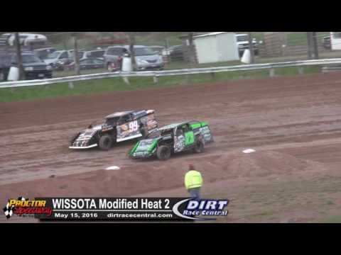 Proctor Speedway 5/15/16 WISSOTA Modified Heat Race 2