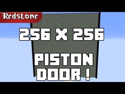 256 X 256 Piston Door- Biggest Possible In Minecraft ! [World Record]