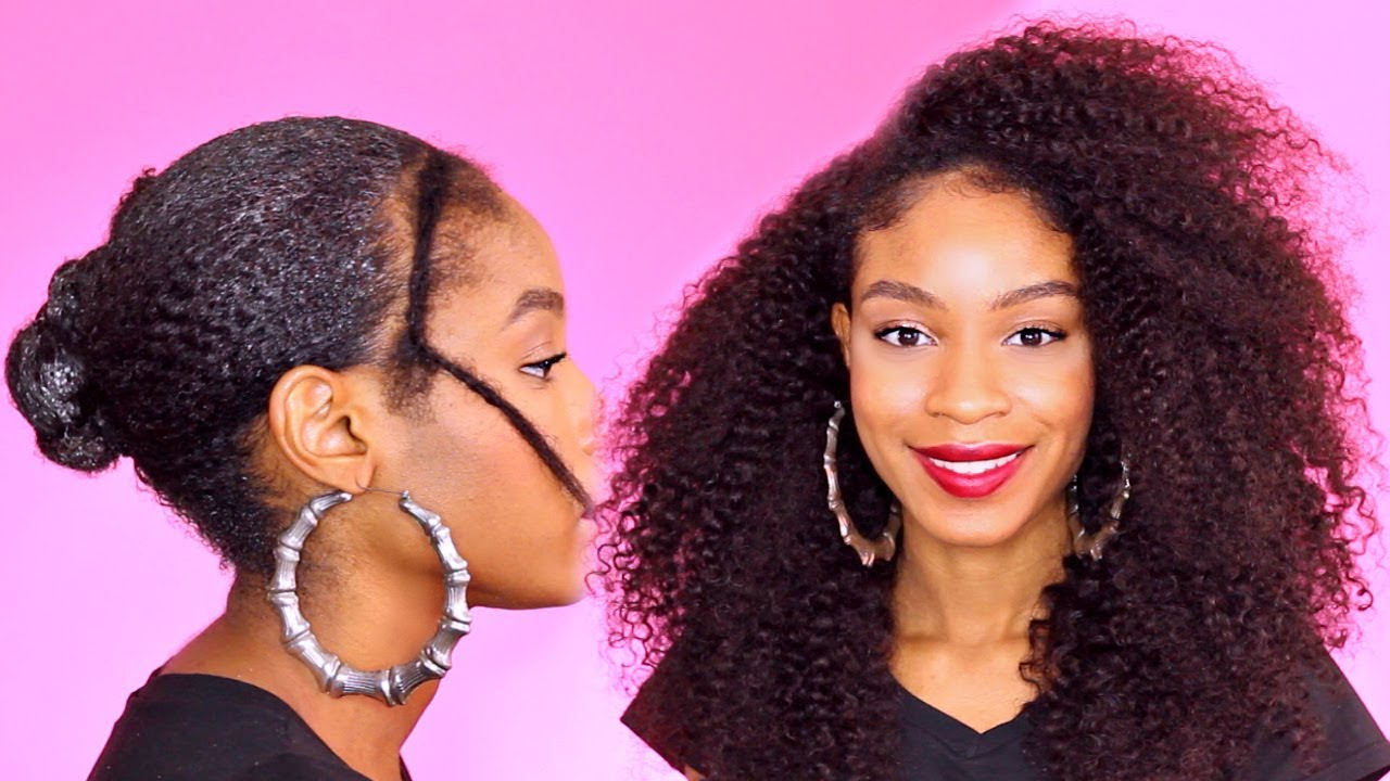 how to quick weave on natural hair► natural hair protective style