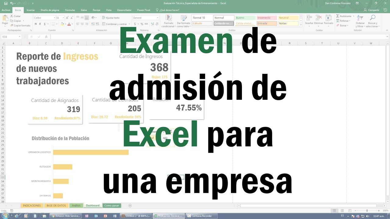 Consigue el Trabajo que Quieres con Excel! Como pasar un Examen de ...