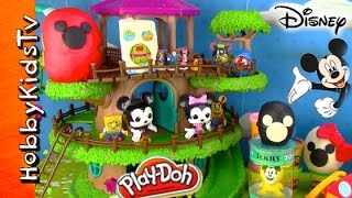 Disney Toy Surprises! Domo, TokiDoki, Yummy Donut, Play-Doh Choco Eggs Mickey Mouse HobbyKids