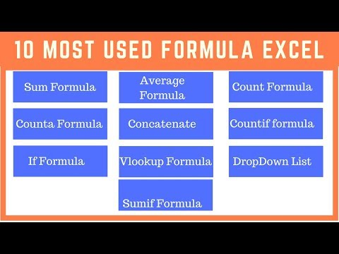 10 Most Used Excel Formula
