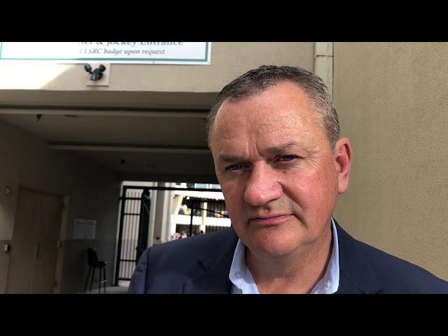 Trainer Eddie Kenneally on Lecomte favorite Scabbard