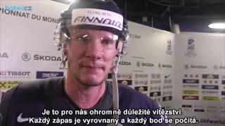 Mika Pyörälä po zápase Švýcarsko – Finsko 2:3p