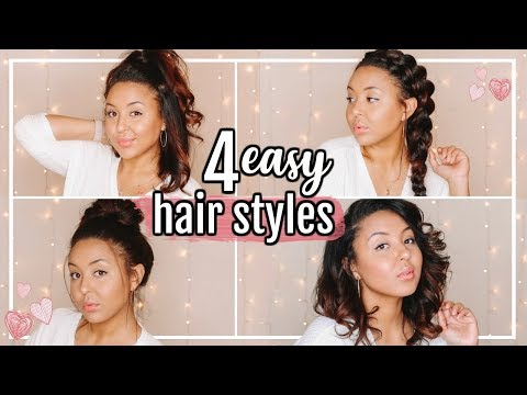 EASY HAIRSTYLES EVERY GIRL SHOULD KNOW | 4 MEDIUM LENGTH HAIRSTYLES!!! | Page Danielle