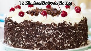 Black forest cake recipe without oven - Cake in pressure cooker  Black forest cake Whipped cream