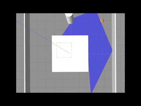 Reinforcement Learning for a Robot Navigation Task with a Centered Obstacle