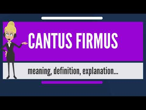 What is CANTUS FIRMUS? What does CANTUS FIRMUS mean? CANTUS FIRMUS meaning & explanation