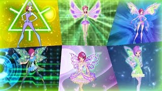 Winx Club - Tecna All Full Transformations up to Tynix! HD!