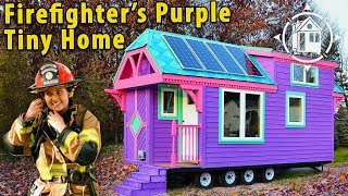 This Purple TINY HOUSE Is Freeing Her From A Mortgage