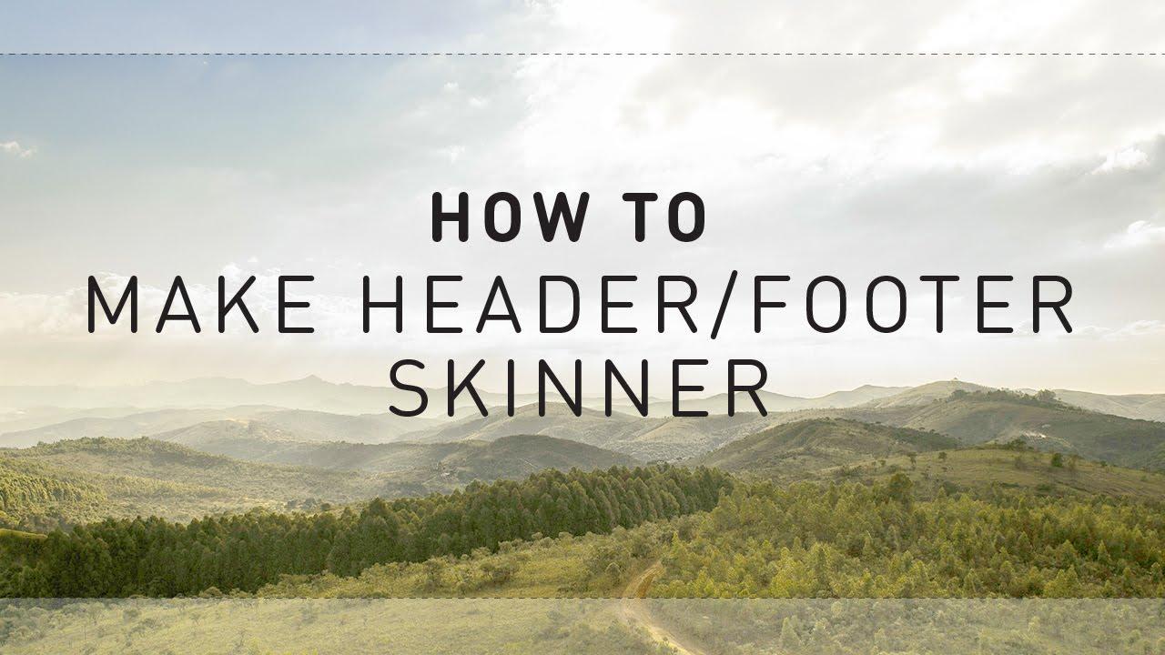 how to make youtube header
