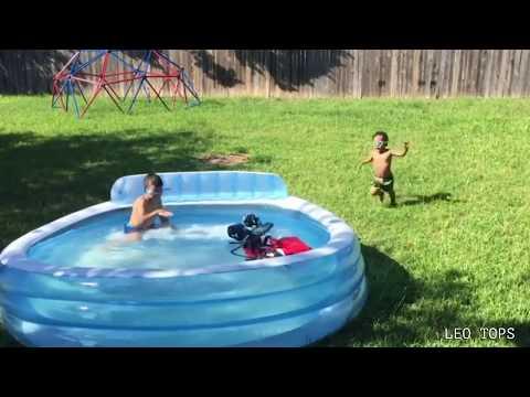 Niños vs piscinas | VIDEOS  CHISTOSOS GOLPES BROMAS CAIDAS   2018