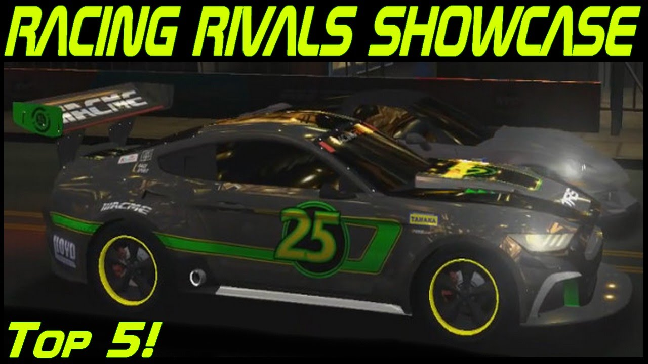 Racing rivals showcase top 5 ford mustang race edition
