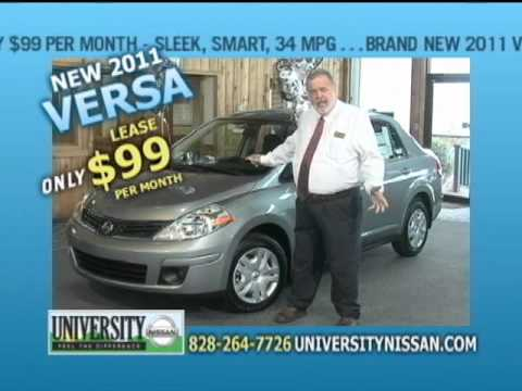 Lease A Versa For $99/month At University Nissan Of Boone NC