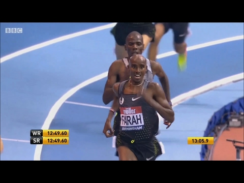 ᴴᴰ Mo Farah at Birmingham Müller Indoor Grand Prix| Men's 5000m 2017