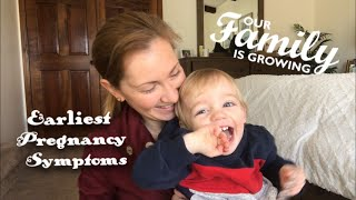 EARLIEST PREGNANCY SYMPTOMS DURING THE 2 WEEK WAIT | FIRST MONTH OF PREGNANCY UPDATE