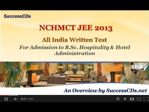 NCHMCT JEE 2013 Application Process ( Hotel Management Entrance Exam)