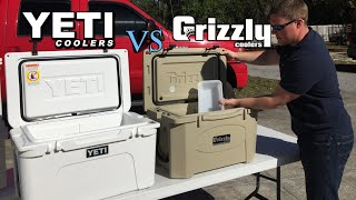 Grizzly Coolers Vs Yeti, Who Lasts Longer? Ice Challenge Results, Yeti Tundra 45 Vs Grizzly 40 Q