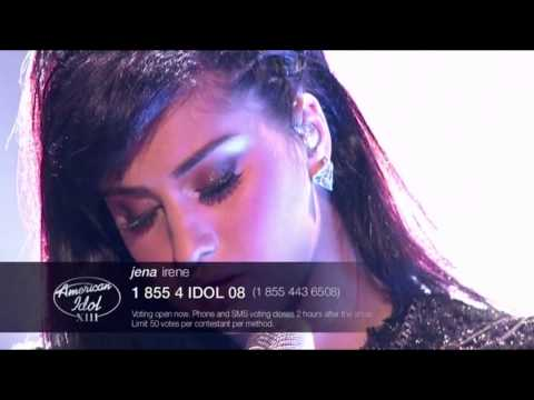 Jena Irene 27 - American Idol S13E36c Creep